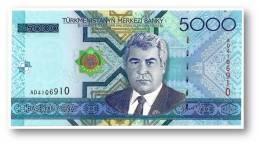 TURKMENISTAN - 5000 MANAT - 2005 - Pick 21 - UNC. - Serie AD - 2 Scans - 5.000 - Turkmenistan
