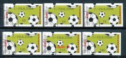 ÖSTERREICH Automatenmarken Mi.Nr. 10.1  Fußbälle - 7-29.6.2008  - Used - ATM - Frama (Verschlussmarken)