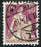 TIMBRE 1933 OBLITERE PAPIER GRILLEE . CATALOGUES: DES TIMBRES SUISSES Nr:176z. Y&TELLIER Nr:206a. MICHEL Nr:208z. - Gebraucht