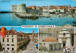 Pozdrav Iz Dubrovnika Verschiedene Ansichten Mehrbildkarte - Jugoslawien