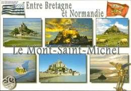 Entre Bretagne Et Normandie Le Mont-Saint-Michel Verschiedene Ansichten - France