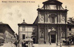 CPA   ITALIE---FIRENCE----CHIESA---DI. S. MARCO E VEDUTA DI VIA CAVOUR - Firenze