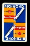 Speelkaart ( 060 ) 1 Losse Kaart - Publicité  Reclame Tabac Tabak Cigare Sigaar Cigarette Sigaret -  RICHMOND - Cartes à Jouer Classiques