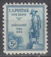 United States    Scott No.  734      Mnh   Year  1933 - Ungebraucht