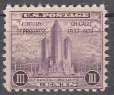 United States    Scott No.  729     Mnh   Year  1933 - Unused Stamps