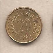 Jugoslavia - Moneta Circolata Da 20 Para - 1990 - Jugoslavia