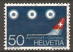 SUISSE      -  1968.   Y&T N° 805 Oblitéré.   Avions  /  Aéroport De Genève. - Switzerland