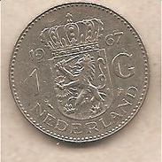 Paesi Bassi - Moneta Circolata Da 1 Gulden - 1967 - 1948-1980 : Juliana