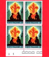 Nuovo - MNH - ITALIA - 1968 - Scoutismo - Quartina - 50 L. • Bivacco Scout E Stemma Dell´associazione - 1961-70: Neufs