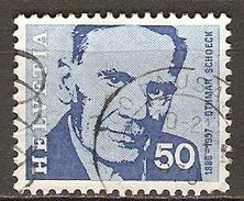 SUISSE      -  1969.   Y&T N° 842 Oblitéré.   Le Compositeur SCHOECK - Switzerland