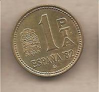 "Spagna - Moneta Circolata Da 1 Peseta ""Espana 82"" - 1980 - [ 5] 1949-… : Regno"