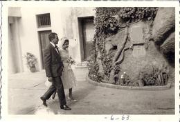 CASABLANCA   MARIES A NOTRE DAME DE LOURDES   JUIN 1963 13X9CM - Lieux