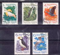 USSR 1976 Mi Nr 4506 - 4510 Natuurbescherming, Vogels, Birds, Watervogels - 1992-.... Föderation