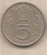 Ungheria - Moneta Circolata Da 5 Fiorini - 1984 - Ungheria