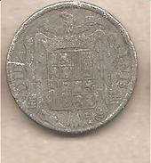 Spagna - Moneta Circolata Da 10 Centesimi - 1941 - 1 Peseta