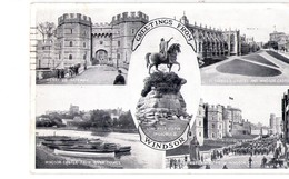 S2285 Small Postcard - Berkshire > Windsor Castle + NICE STAMP 1953, Francobollo - Windsor Castle