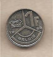 """Belgio - Moneta Circolata Da 1 Franco """" Versione Fiamminga"""" - 1989 - 1951-1993: Baldovino I"""