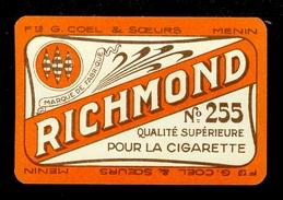 Speelkaart ( 070 ) 1 Losse Kaart - Publicité  Reclame Tabac Tabak Cigare Sigaar Cigarette Sigaret - RICHMOND - Speelkaarten