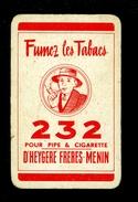 Speelkaart ( 071 ) 1 Losse Kaart - Publicité  Reclame Tabac Tabak Cigare Sigaar Cigarette Sigaret - Menin Meenen Menen - Playing Cards (classic)