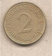 Jugoslavia - Moneta Circolata Da 2 Dinari - 1985 - Jugoslavia