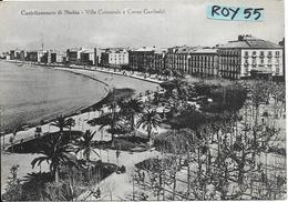 Campania-castellammare Di Stabia Veduta Panoramica Villa Comunale Corso Garibaldi Anni/50 - Italia