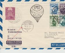 Luchtpost Oostenrijk Ballonpost Villach 1957 ??? - Par Ballon