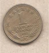 Jugoslavia - Moneta Circolata Da 1 Dinaro - 1968 - Jugoslavia