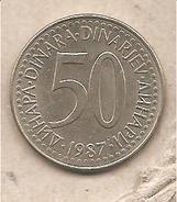 Jugoslavia - Moneta Circolata Da 50 Dinari - 1987 - Jugoslavia