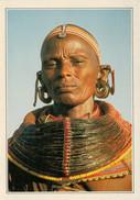 SAMBURU  WOMAN  IN  TRIBAL  COSTUME      (SCRITTA) - Kenia