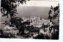 S2302 Small Postcard - Monaco, Vue Sur Le Rocher Et Le Port  + NICE TIMBRE 1954 - Monaco