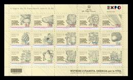 """2015 - EXPO Esposizione Universale """"Milano 2015"""" FOGLIETTO ** Con Codice A Barre - 6. 1946-.. Repubblica"""