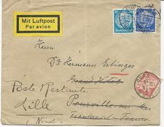 ENVELOPPE PAR AVION 1933 AVEC  TIMBRE TAXE DE POSTE RESTANTE - Briefe U. Dokumente
