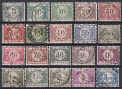 BELGIË - OBP - 1922 - TX 32/48 + NUANCE- Gest/Obl/Us