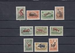 Hongrie - Mammifères Divers - Neufs** - Année 1953 - Y.T. PA N° 136/145