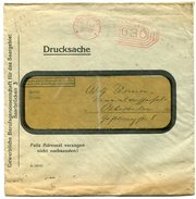 VR 70 Sarre Lettre Tarif Imprimé Affranchissement Mécanique Saarbrucken 23.7.32 - Briefe U. Dokumente