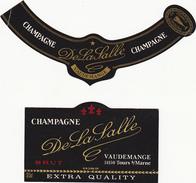 Etiquette CHAMPAGNE - DE LA SALLE à Vaudemange - BRUT / 2 Pièces - Champagne
