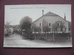 CPA 70 CHARMES SAINT VALBERT Entrée Du Village SEPIA ANIMEE Petit Plan Canton JUSSEY - France