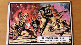 SPANISH CIVIL WAR NEWS - TOPPS PRINTED IN SPAIN - 4 - BUBBLE GUM CARD - SIXTIEES - Confectionery & Biscuits