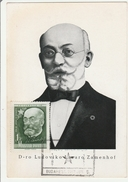 Budapest 1957 - Carte Maxi Ludoviko Lazaro Zamenhof - Ungarn