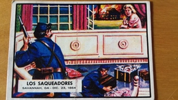 SPANISH CIVIL WAR NEWS - TOPPS PRINTED IN SPAIN - 83 - BUBBLE GUM CARD - SIXTIEES - Confectionery & Biscuits