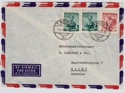 1954, Luftpost Nach Schweden , #7261 - 1945-60 Briefe U. Dokumente