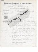71 - Saône-et-loire - PARAY-LE-MONIAL - Facture CARRELAGES ET CERAMIQUES DE PARAY-LE-MONIAL - 1898 - REF 57A - France