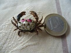 """Bijou Ancien D'enfant - Petite Broche - """"Crabe"""" - Très Mignon - Avec Fermoir à L'ancienne - Broches"""