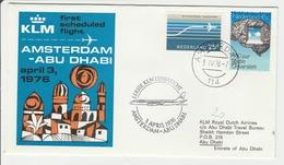 Amsterdam Abu Dhabi UAE 1976 - 1er Vol KLM Erstflug Inaugural Flight - Abu Dhabi
