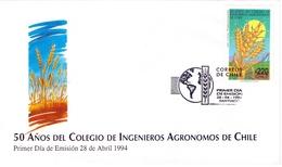 CHILE FDC INGENIEROS AGRONOMOS DE CHILE 1994  (GEN170107) - Agricoltura
