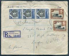 1946 K.U.T. Arusha, Tanganyika Territory Registered Airmail Cover - Lloyds Bank, London - Kenya, Uganda & Tanganyika