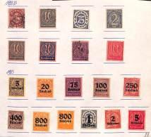 ALLEMAGNE - Petit Lot De 1922 à 1923, Timbres De Service, */mh Et Obl
