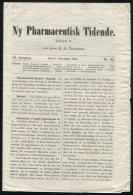 1886 Denmark. Ny Pharmaceutisk Tidende. Medical Chemist Science Publication (4 Pages / 8 Sides) - Historical Documents