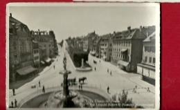 PRS-08  La Chaux-de-Fonds, Léopold Robert Et Fontaine Monumentale. Attelage. Cachet 1947, Grand Format - NE Neuenburg