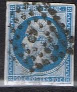 14 Bleu Losange C TTB - Marcophilie (Timbres Détachés)